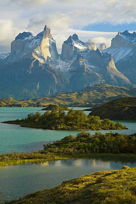 Photograph - Lake Pehoe, Torres Del Paine National by Eastcott Momatiuk