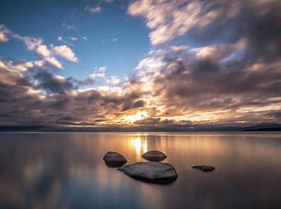 Photograph - Lake Tahoe Sunset by Martin Gollery