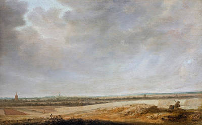Painting - Landscape With Cornfields by Salomon van Ruysdael