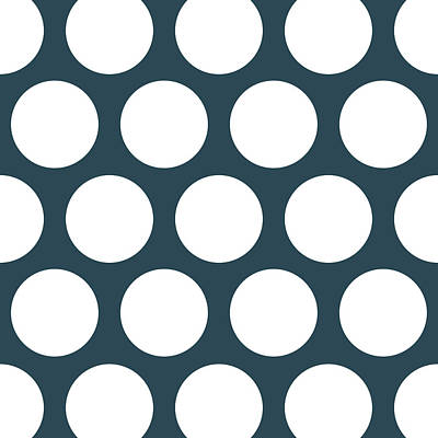 Beers On Tap - Large Polka Dots by Jared Davies