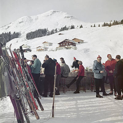 Drinking Photograph - Lech Ice Bar by Slim Aarons
