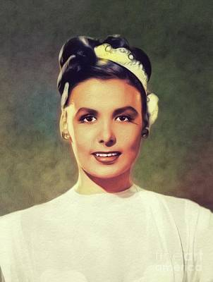 Rock And Roll Royalty-Free and Rights-Managed Images - Lena Horne, Singer and Actress by John Springfield