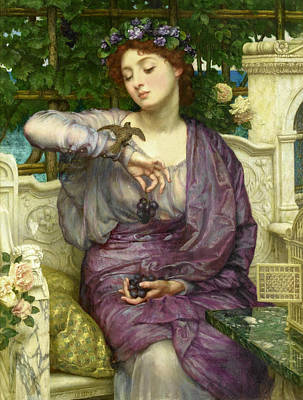 Painting - Lesbia And Her Sparrow by Edward Poynter