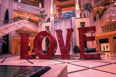 Photograph - Love Sign Letters Installation In Las Vegass Nevada by Alex Grichenko