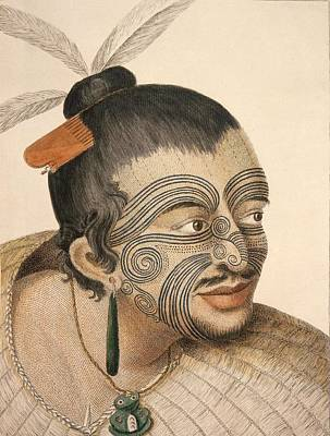 Painting - Maori Chief 1784 by Celestial Images