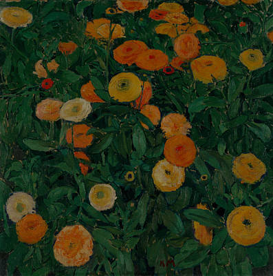 Painting - Marigolds by Koloman Moser