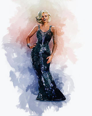 Digital Art - Marilyn by Ian Mitchell