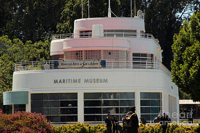 Comic Character Paintings - Maritime Museum, Aquatic Park Bathhouse Building by Wernher Krutein