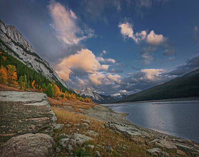 Photograph - Medicine Lake, Jasper by Dan Jurak