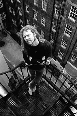 Photograph - Metallica James Hetfield London April by Martyn Goodacre