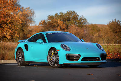 Photograph - #miami #blue #porsche 911 #turbo S #print by ItzKirb Photography