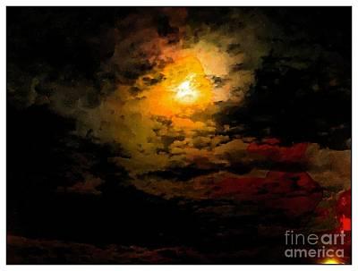 Photograph - Moon Rising by Leslie Hunziker