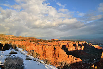 Photograph - Morning Clouds Over Colorado National Monument by Ray Mathis