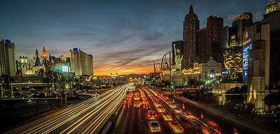 Photograph - New York City Skyline In Las Vegas Nevada by Alex Grichenko