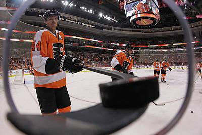 Photograph - New York Rangers V Philadelphia Flyers by Bruce Bennett