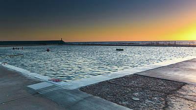 Superhero Ice Pops - Newcastle Baths at Sunrise by Merrillie Redden