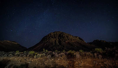 Photograph - Night Time And Dark Sky Over Death Valley National Park by Alex Grichenko