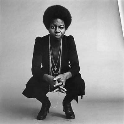 Black And White Photograph - Nina Simone by Jack Robinson