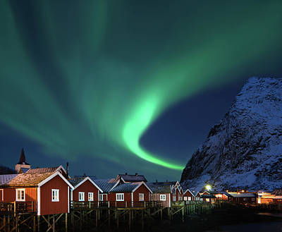 Photograph - Northern Lights - Aurora Borealis Over by Relaxfoto.de