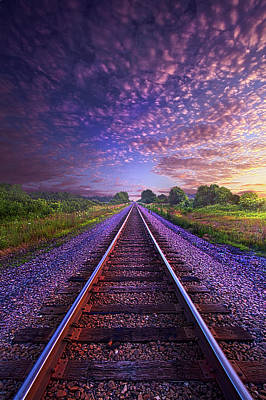 Photograph - On A Train Bound For Nowhere by Phil Koch