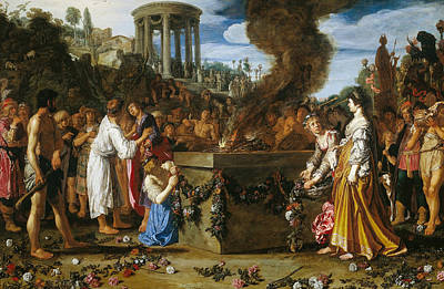 Painting - Orestes And Pylades Disputing At The Altar by Pieter Lastman