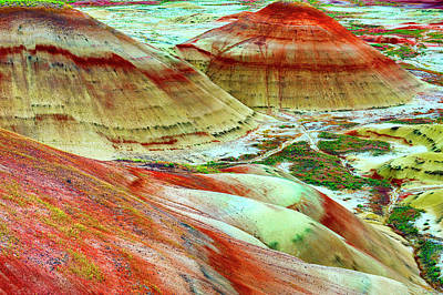 Photograph - Painted Hills John Day Fossil Beds by Dee Browning