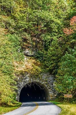 Winter Animals - Parkway Tunnel O Blue Ridge Parkway In Autumn  by Alex Grichenko
