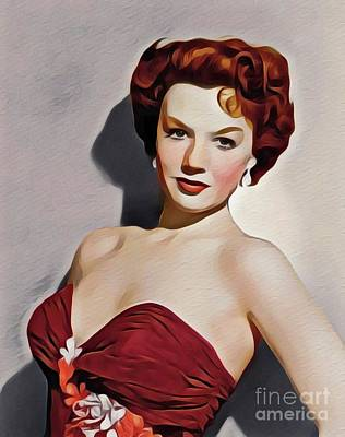 Digital Art Royalty Free Images - Piper Laurie, Vintage Actress Royalty-Free Image by John Springfield