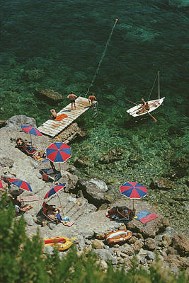 Beach Photograph - Porto Ercole by Slim Aarons
