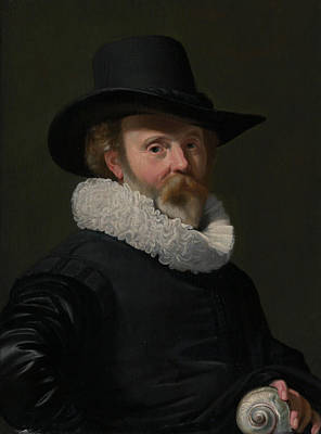 Painting - Portrait Of A Man With A Shell by Thomas de Keyser