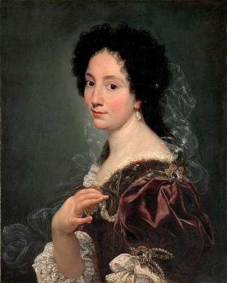Painting - Portrait Of A Woman by Giovanni Battista Gaulli