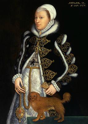 Painting - Portrait Of A Woman, Probably Catherine Carey, Lady Knollys by Steven van der Meulen