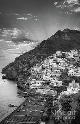 Photograph - Positano Sunset by Inge Johnsson