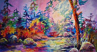 Painting - Rainbow River by Bonny Roberts
