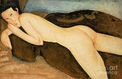 Painting - Reclining Nude From The Back by Amedeo Modigliani