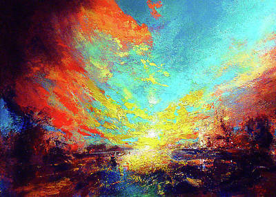 Wall Art - Painting - Red Rain by Neil McBride