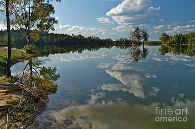 Reflections By The Lake Art Print