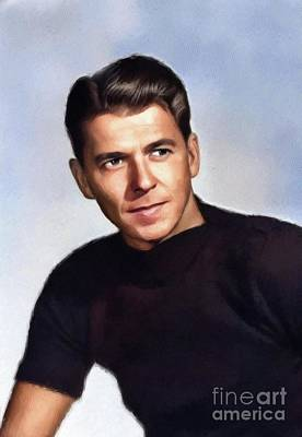 Politicians Royalty-Free and Rights-Managed Images - Ronald Reagan, Actor and President by John Springfield