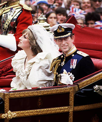 Photograph - Royal Wedding by Princess Diana Archive