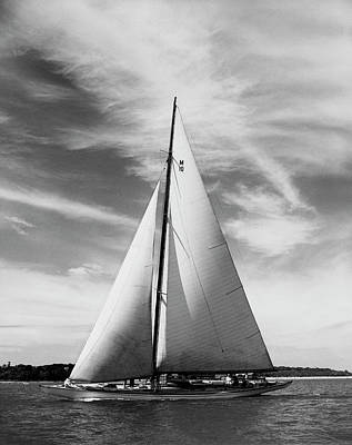 Photograph - Sailboat In The Sea by Superstock
