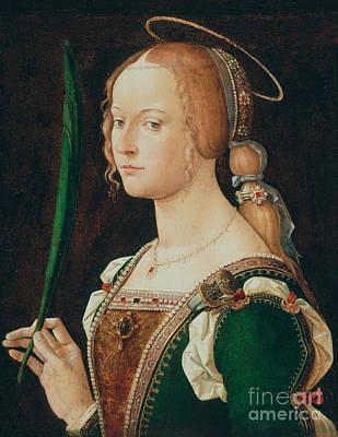 Painting - Saint Justina Of Padua by Bartolomeo Montagna