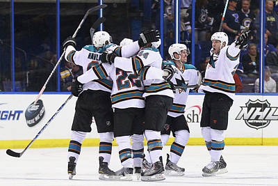 Nhl Photograph - San Jose Sharks V St. Louis Blues - by Dilip Vishwanat