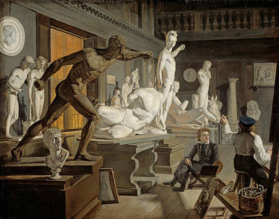 Painting - Scene From The Academy In Copenhagen by Knud Baade
