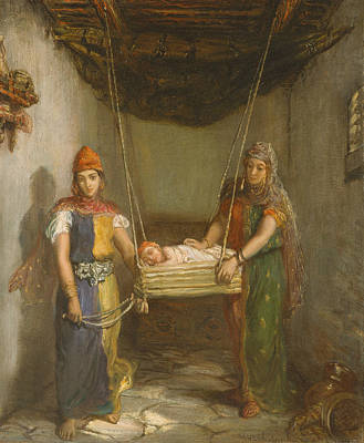 Painting - Scene In The Jewish Quarter Of Constantine by Theodore Chasseriau
