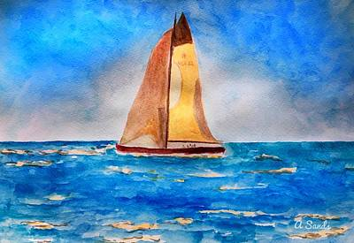 Painting - Setting Sail by Anne Sands
