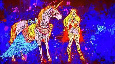 Mixed Media - She - Ra And Swift Wind by Al Matra