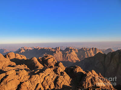 Photograph - Sinai Egypt Sunrise by Benny Marty