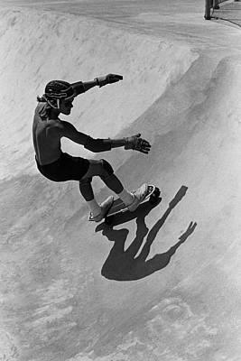 Photograph - Skateboarding Becomes A Popular Sport by George Rose