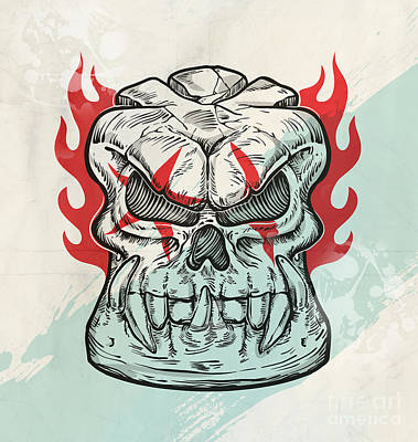 Steampunk - Skull Sketch Design  by Domenico Condello