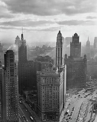 Skyscraper Photograph - Skyscrapers In A City, Chicago by Superstock